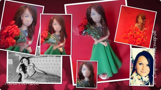 Кукла-это подарок на юбилей для сестры мужа. Все были в восторге.Выкройку взяла из интернета. Набивка-синтепон. Роспись-акриловые краски. Ростом около 25 см. фото 1
