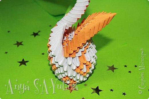 Здравствуйте) Сейчас я вам расскажу и покажу, как делать этого красивого лебедя техникой модульное оригами. Чтобы посмотреть урок, спуститесь чуть ниже по странице:) фото 4