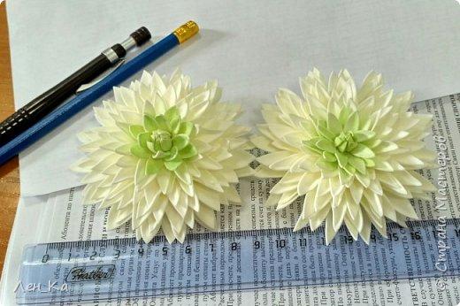 Не за горами начало нового учебного года, и по традиции 1 сентября волосы школьниц украшают нарядными белыми бантиками, ну а у меня натворились такие белые хризантемы! фото 1