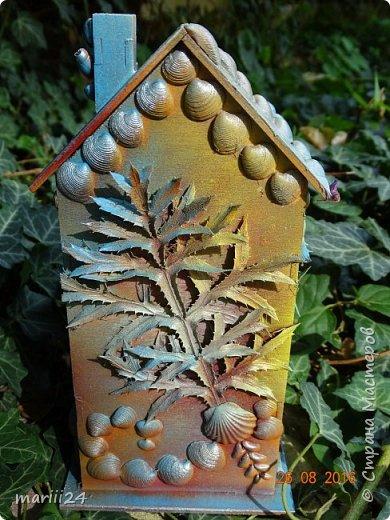 Добрый день уважаемые жители СМ. Сегодня выложу 3 новых чайных домика - экспериментальные. Первые два сделаны с использованием природных материалов, а проще - колючек, травок и цветочков с горки за домом и ракушек с пляжа. фото 9