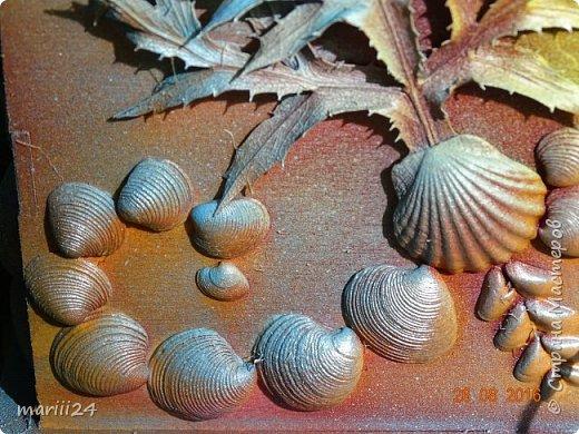 Добрый день уважаемые жители СМ. Сегодня выложу 3 новых чайных домика - экспериментальные. Первые два сделаны с использованием природных материалов, а проще - колючек, травок и цветочков с горки за домом и ракушек с пляжа. фото 10