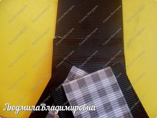 Хочу поделиться с Вами, Мастерицы, своим МК по школьному галстучку-броши. фото 14