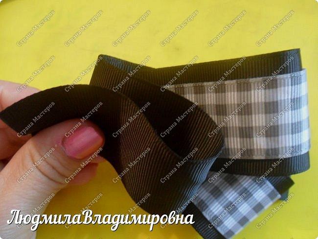Хочу поделиться с Вами, Мастерицы, своим МК по школьному галстучку-броши. фото 15