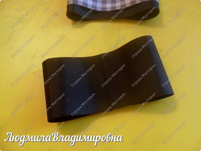 Хочу поделиться с Вами, Мастерицы, своим МК по школьному галстучку-броши. фото 9