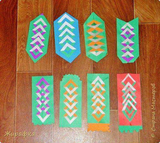 Вот такие закладки мы делали в те далёкие времена, когда деревья были большими, а я училась в начальной школе. фото 1