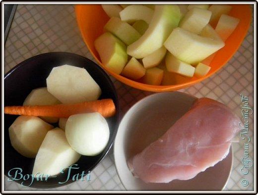 Очень люблю супы-пюре) Решила сделать супчик с кабачками)Получается вкусно,сытно и нежно) фото 2