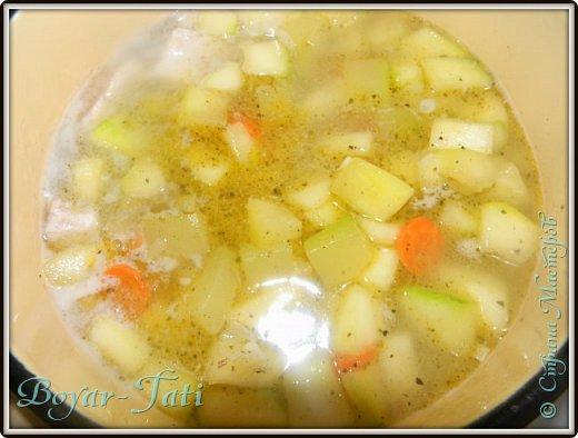 Очень люблю супы-пюре) Решила сделать супчик с кабачками)Получается вкусно,сытно и нежно) фото 5