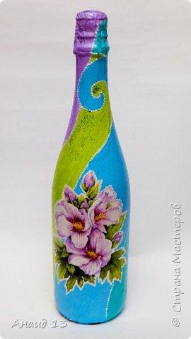 Очень понравились бутылочки Елены Пушкаревой  http://stranamasterov.ru/node/1010379, захотелось и себе сотворить что-то подобное. фото 1