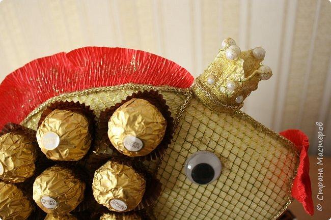 """Вот такую золотую рыбку нам подарили. Правда ни одного моего желания она не исполнила, а вот желание моих детей """"Дай конфету"""" исполняет сразу. фото 9"""