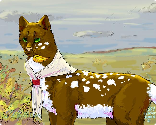 У меня маленькая радость - подарили графический планшет! :) Странно, но я пока рисовала на компьютере только кошек и собак... Сама не знаю почему))) фото 4