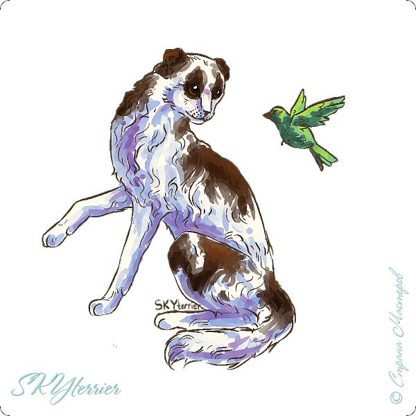 У меня маленькая радость - подарили графический планшет! :) Странно, но я пока рисовала на компьютере только кошек и собак... Сама не знаю почему))) фото 8