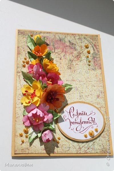 Здравствуйте! Еще одна летне-осенняя открыточка. С моими непонятно какого сорта цветами. фото 16