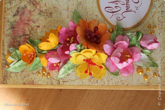 Здравствуйте! Еще одна летне-осенняя открыточка. С моими непонятно какого сорта цветами. фото 4