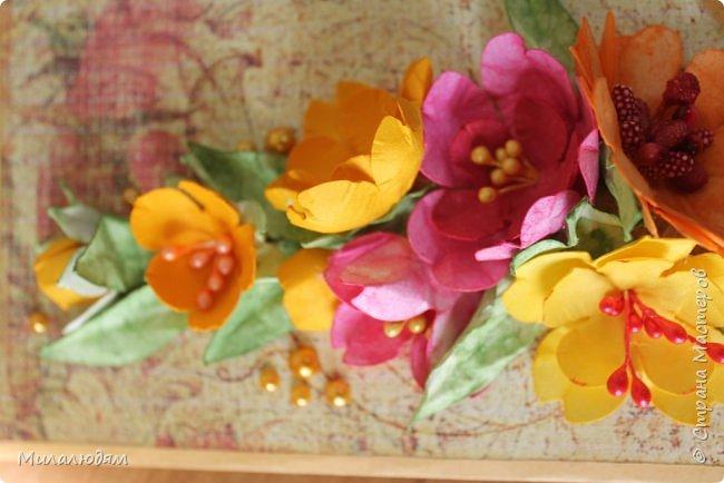 Здравствуйте! Еще одна летне-осенняя открыточка. С моими непонятно какого сорта цветами. фото 6