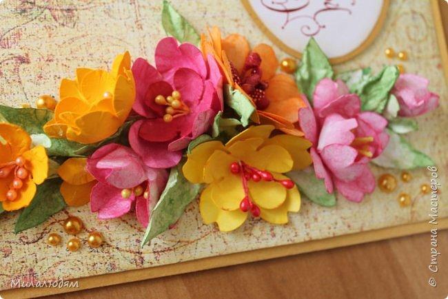 Здравствуйте! Еще одна летне-осенняя открыточка. С моими непонятно какого сорта цветами. фото 8