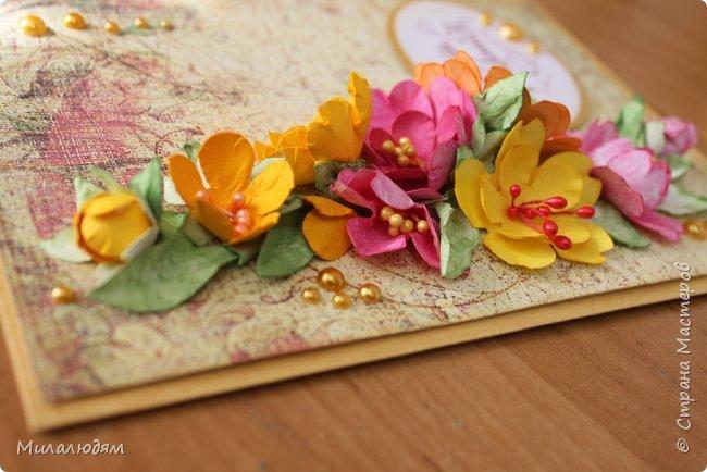 Здравствуйте! Еще одна летне-осенняя открыточка. С моими непонятно какого сорта цветами. фото 9