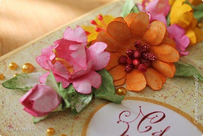 Здравствуйте! Еще одна летне-осенняя открыточка. С моими непонятно какого сорта цветами. фото 11