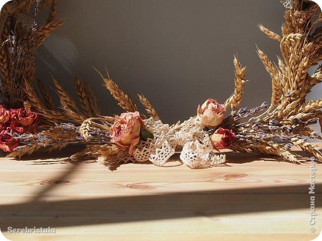 Венок розы и лаванда фото 10