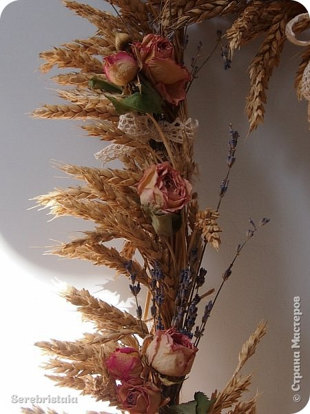 Венок розы и лаванда фото 4