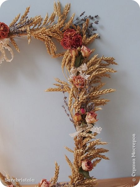 Венок розы и лаванда фото 5