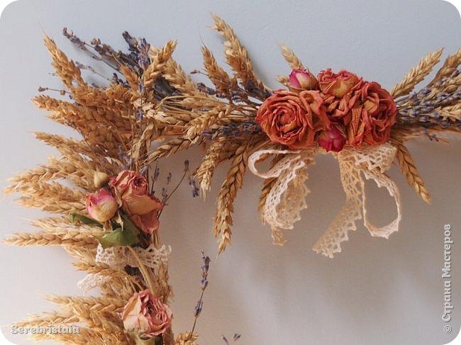 Венок розы и лаванда фото 6