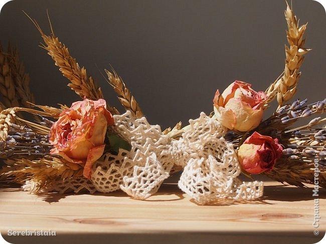 Венок розы и лаванда фото 7