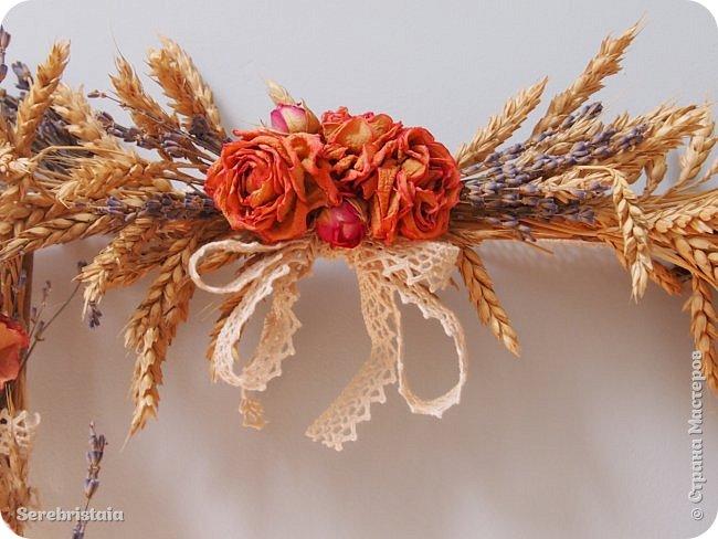Венок розы и лаванда фото 11