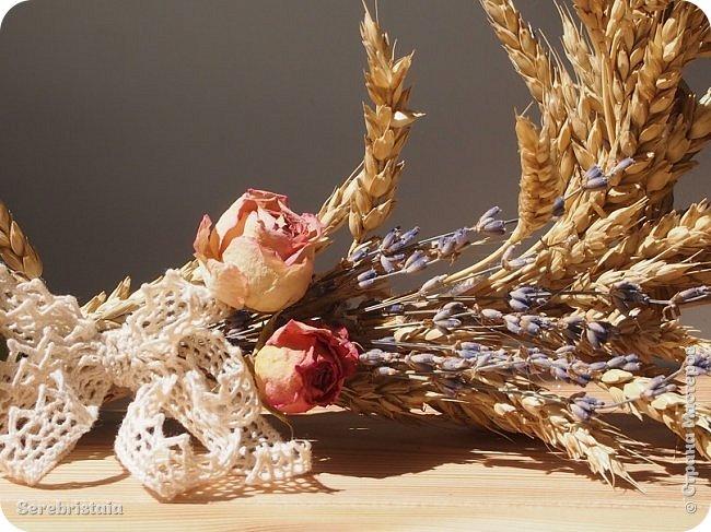 Венок розы и лаванда фото 9
