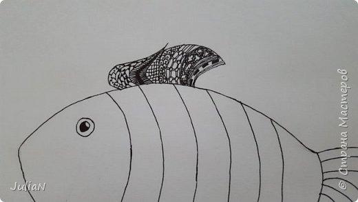Мой первый рисунок в технике зентангл  фото 3