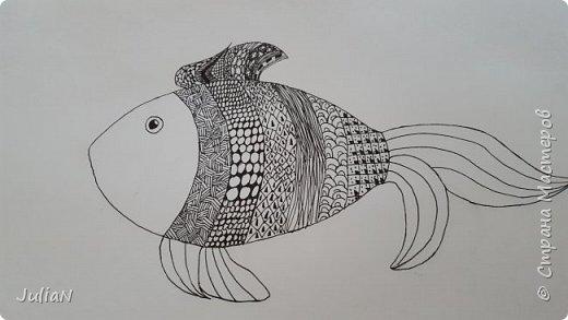Мой первый рисунок в технике зентангл  фото 4