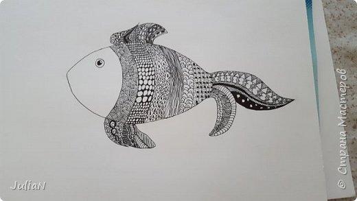 Мой первый рисунок в технике зентангл  фото 5
