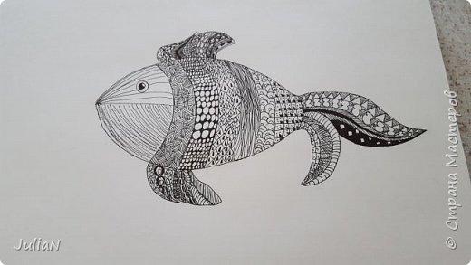 Мой первый рисунок в технике зентангл  фото 1