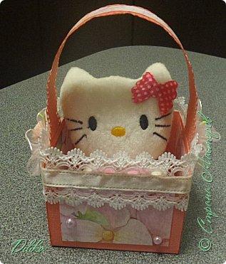 корзиночка с котиком фото 1