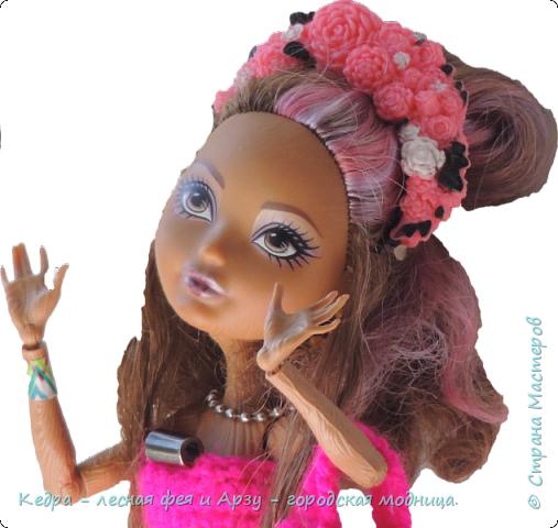 """Здравствуй, СМ! Сегодня я сдаю работу на конкурс """"Мисс Кукольная Жизнь"""" вот ссылка  http://stranamasterov.ru/node/1046432.  В моей работе кедра показывает платье. Надеюсь, оно ей идет. Кедра  в первый раз участвует в конкурсе. Ну, хватет болтать давайте смотреть: фото 2"""