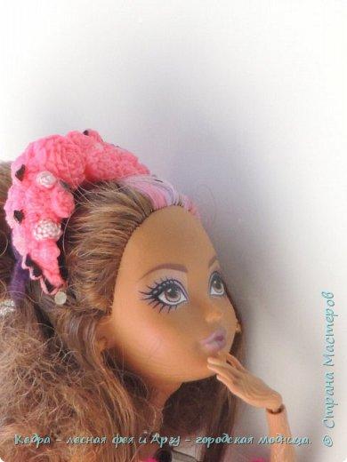 """Здравствуй, СМ! Сегодня я сдаю работу на конкурс """"Мисс Кукольная Жизнь"""" вот ссылка  http://stranamasterov.ru/node/1046432.  В моей работе кедра показывает платье. Надеюсь, оно ей идет. Кедра  в первый раз участвует в конкурсе. Ну, хватет болтать давайте смотреть: фото 5"""