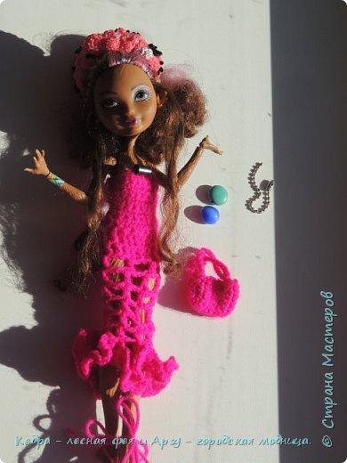 """Здравствуй, СМ! Сегодня я сдаю работу на конкурс """"Мисс Кукольная Жизнь"""" вот ссылка  http://stranamasterov.ru/node/1046432.  В моей работе кедра показывает платье. Надеюсь, оно ей идет. Кедра  в первый раз участвует в конкурсе. Ну, хватет болтать давайте смотреть: фото 9"""