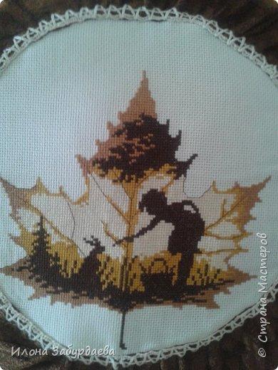 """Подушки с вышивкой """"кленовые листья""""  фото 3"""