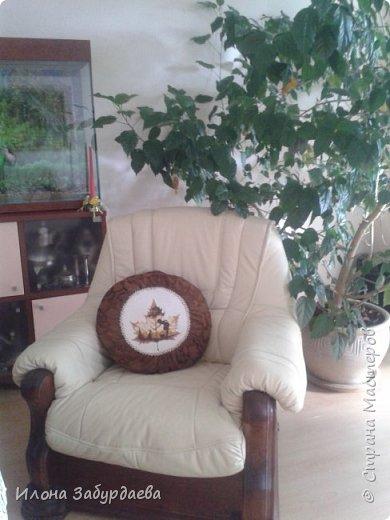 """Подушки с вышивкой """"кленовые листья""""  фото 5"""