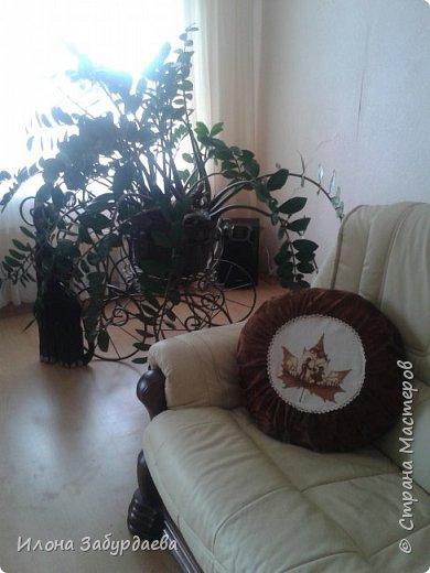 """Подушки с вышивкой """"кленовые листья""""  фото 6"""