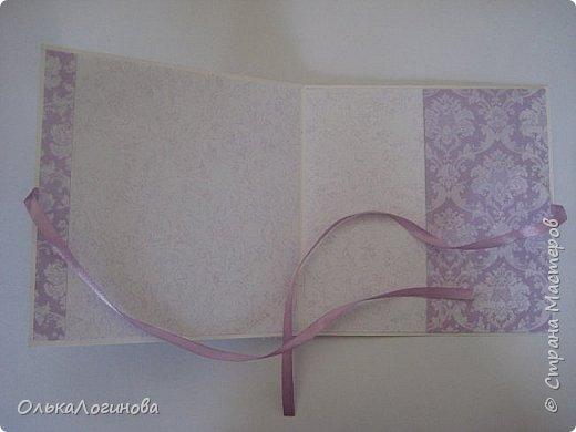 """Доброго дня страна!!!Нежданно,негадано получилась у меня такая вот открытка-конверт для диска))приглашаю посмотреть!Основа акварельная бумага,бумага для скрапбукинга от  Fleur Design коллекция """"Романтика"""",лист """"Тиснение Орхидея"""",""""Шебби Шик.Базовая"""" лист """"Сияющая орхидея"""",цветы-магнолии,гортензии,лилии,листики,тычинки,полубусины и немного кружева,картинка и светлый слой приподняты на пивной картон. фото 3"""