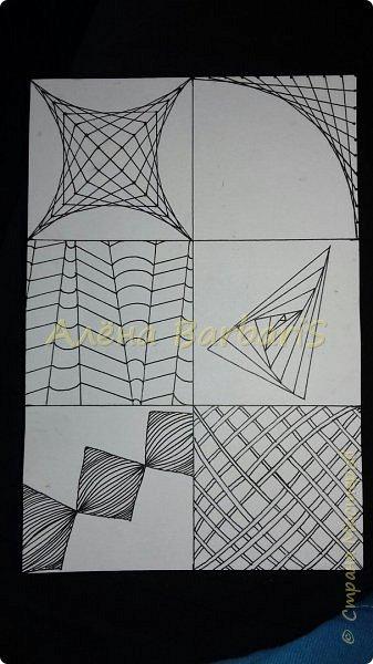 """Здравствуйте всем) и вот осень и вот мое вдохновение снова ко мне вернулось )  Начинаем с парочки карточек зентангл и графика. Зарисовки. Можно сказать что это """"телефонный разговор"""" фото 3"""
