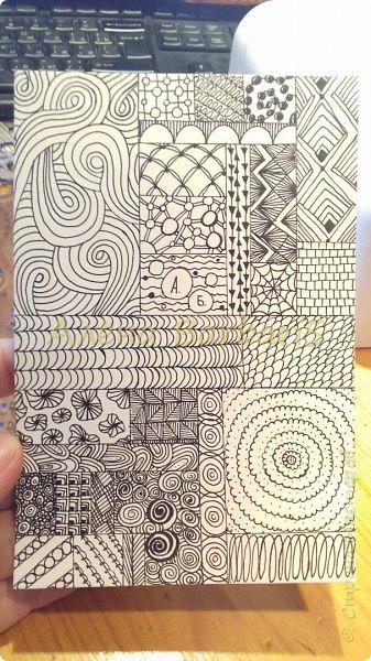 """Здравствуйте всем) и вот осень и вот мое вдохновение снова ко мне вернулось )  Начинаем с парочки карточек зентангл и графика. Зарисовки. Можно сказать что это """"телефонный разговор"""" фото 2"""