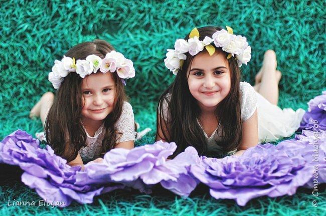 Цветы  с диаметром 45см 120штук  для фотопроекта Анастасии Панеевой  https://vk.com/paneeva фото 19