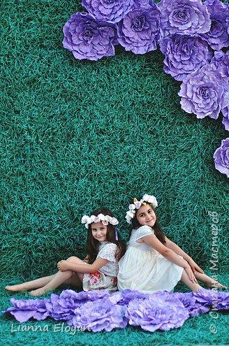 Цветы  с диаметром 45см 120штук  для фотопроекта Анастасии Панеевой  https://vk.com/paneeva фото 21