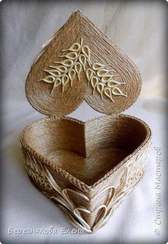 Приветствую всех-всех-всех)))А у меня очередная «сердечная» шкатулочка.Но в этот раз с колосьями пшеницы. Ну,что ж,начнём просмотр?  фото 8