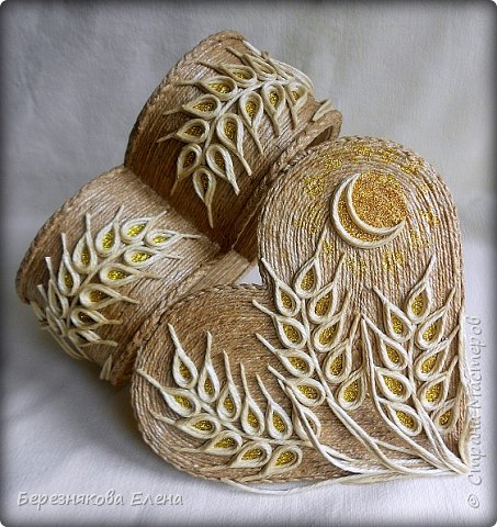 Приветствую всех-всех-всех)))А у меня очередная «сердечная» шкатулочка.Но в этот раз с колосьями пшеницы. Ну,что ж,начнём просмотр?  фото 14