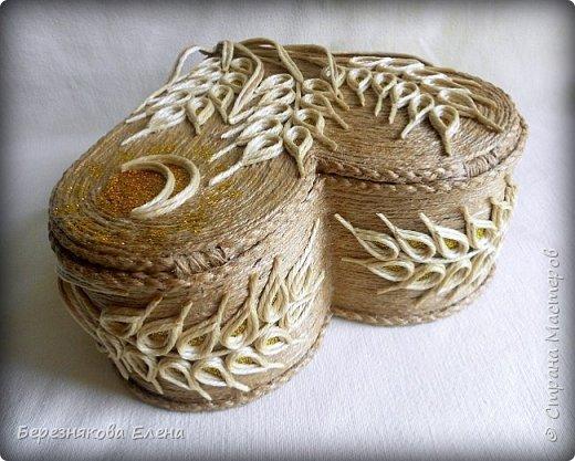 Приветствую всех-всех-всех)))А у меня очередная «сердечная» шкатулочка.Но в этот раз с колосьями пшеницы. Ну,что ж,начнём просмотр?  фото 4