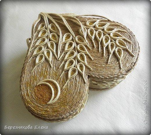 Приветствую всех-всех-всех)))А у меня очередная «сердечная» шкатулочка.Но в этот раз с колосьями пшеницы. Ну,что ж,начнём просмотр?  фото 5
