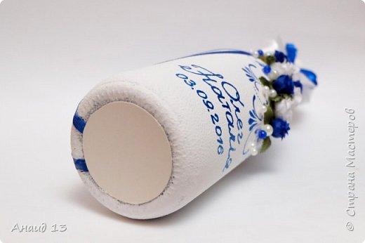 """Небольшой свадебный наборчик. Две бутылки, свечи """"Семейный очаг"""". Пока без имени ( с фантазией у меня туговато), помогите назвать)))) фото 4"""