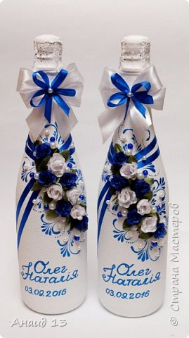 """Небольшой свадебный наборчик. Две бутылки, свечи """"Семейный очаг"""". Пока без имени ( с фантазией у меня туговато), помогите назвать)))) фото 6"""